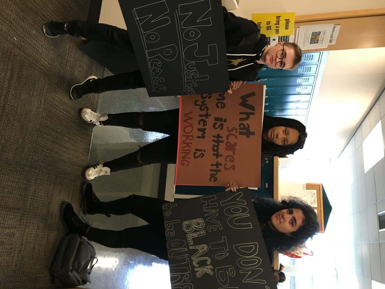 Students with posters