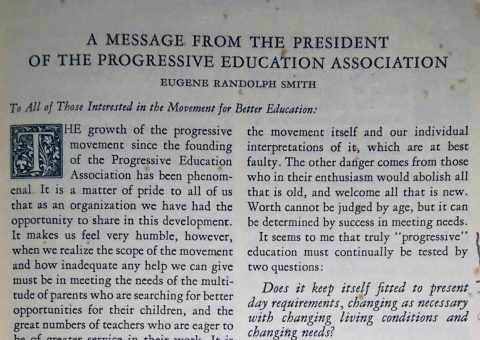 Page from Democracy in Education