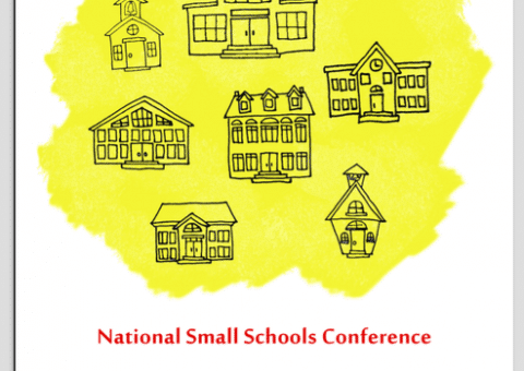 Illustrated poster promoting the 2016 National Small School Conference