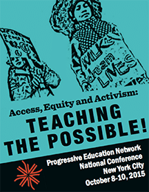 Illustrated poster promoting the PEN 2015 NiPEN conference