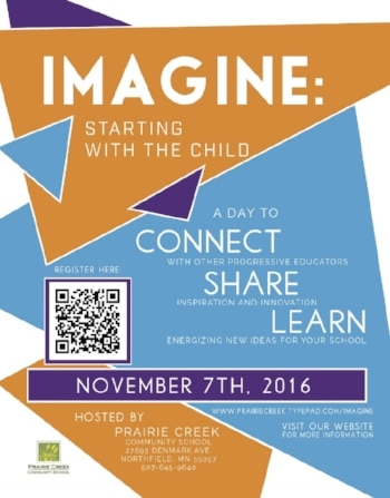 Illustrated flyer to promote the PEN 2016 Imagine conference