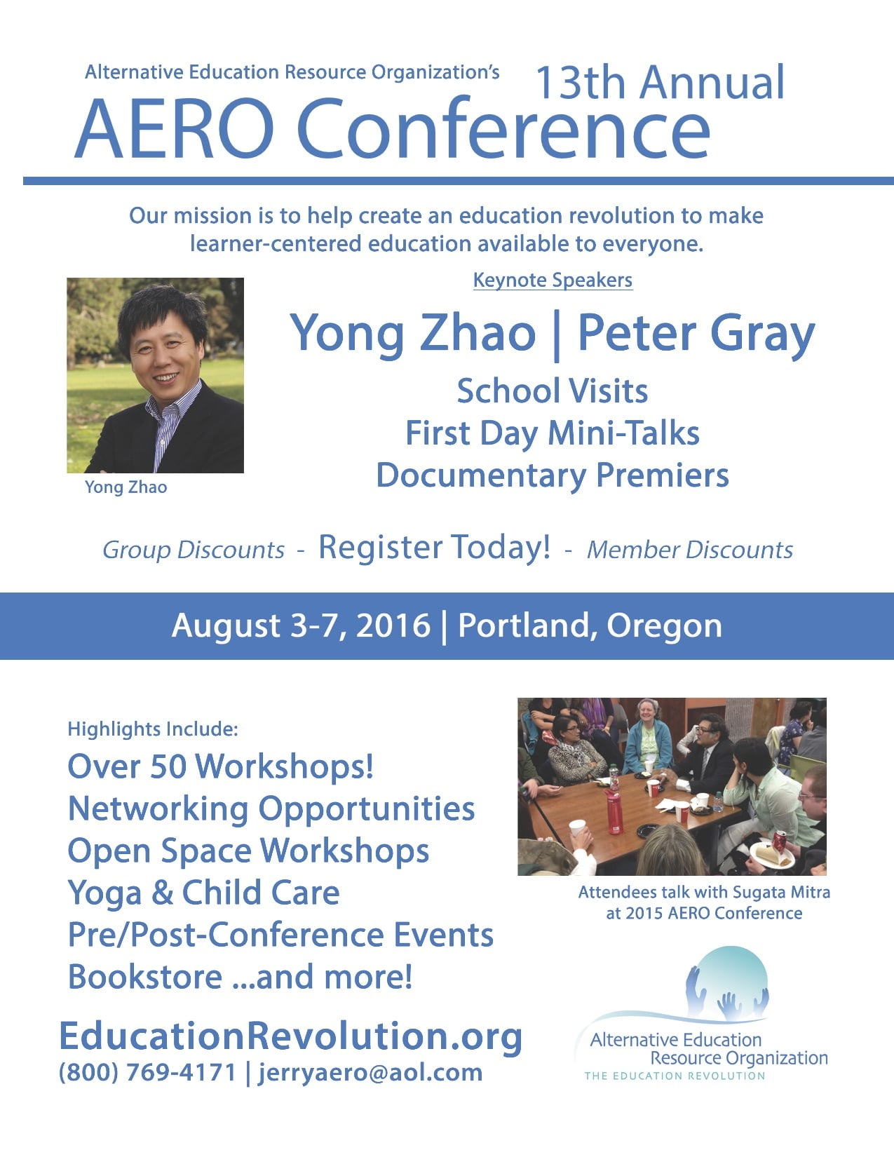 Flyer to promote the 2016 Aero conference