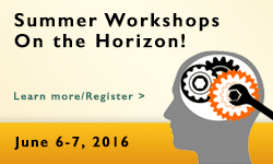 Illustrated banner to promote the 2016 PEN summer workshops
